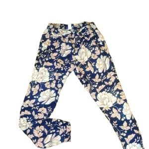 OLD NAVY GRAY/PINK FLORAL PANT S/P